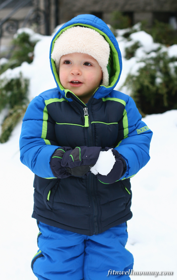 Keenan's first experience with snow!