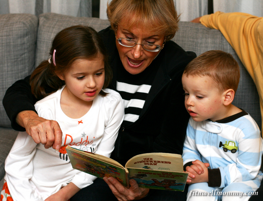 Reading the Gingerbread Man story with Nonna!