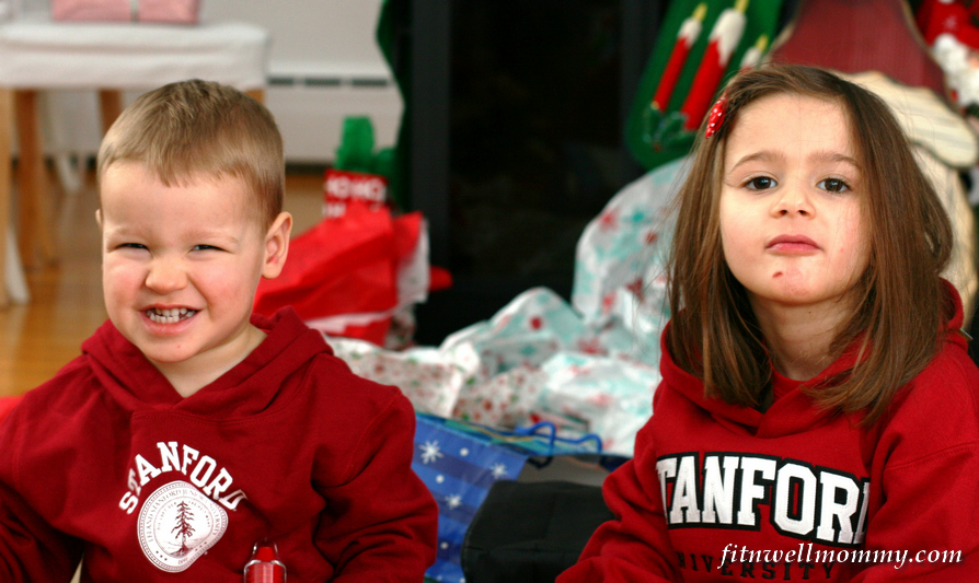 Sporting their new Stanford sweatshirts from Avo!