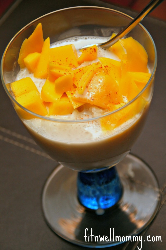 A special Asian dessert, Sticky Rice with Mango, that my husband made a couple of weeks ago!