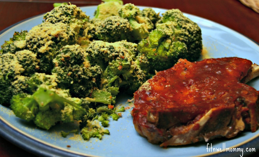 Slow-Cooker Sweet and Spicy Pork Chops and Steamed Broccoli