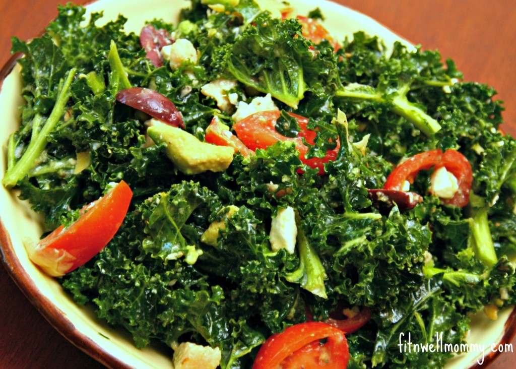 Massaged Kale Greek Salad