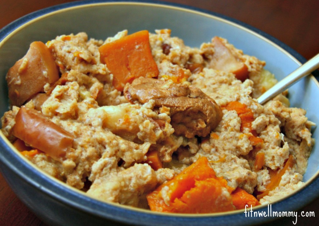The squash, apples and walnuts added so much richness to my usual No Oat Oats!