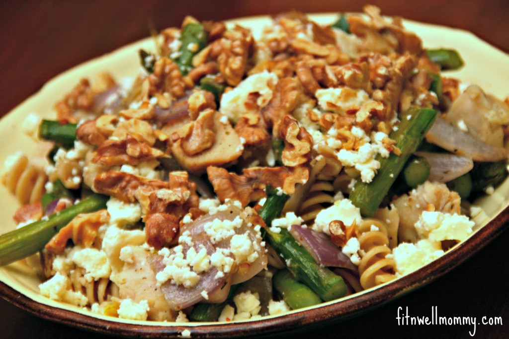Roasted Asparagus Pasta with Feta Cheese