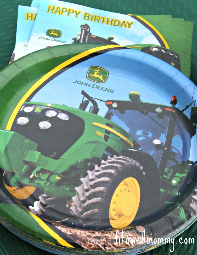All of our eating ware was John Deere.