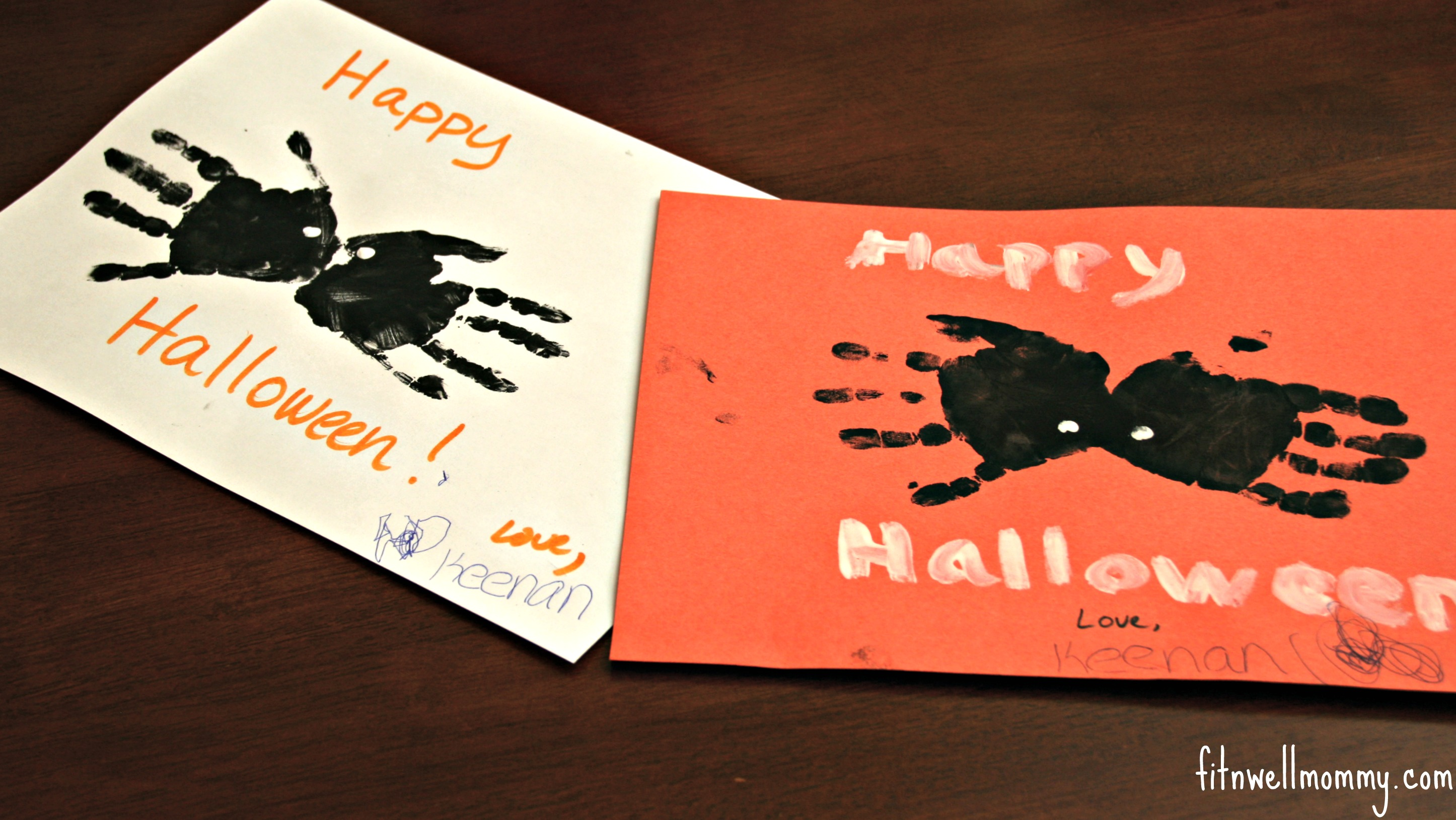 spider handprints - Toddler Halloween Craft Ideas