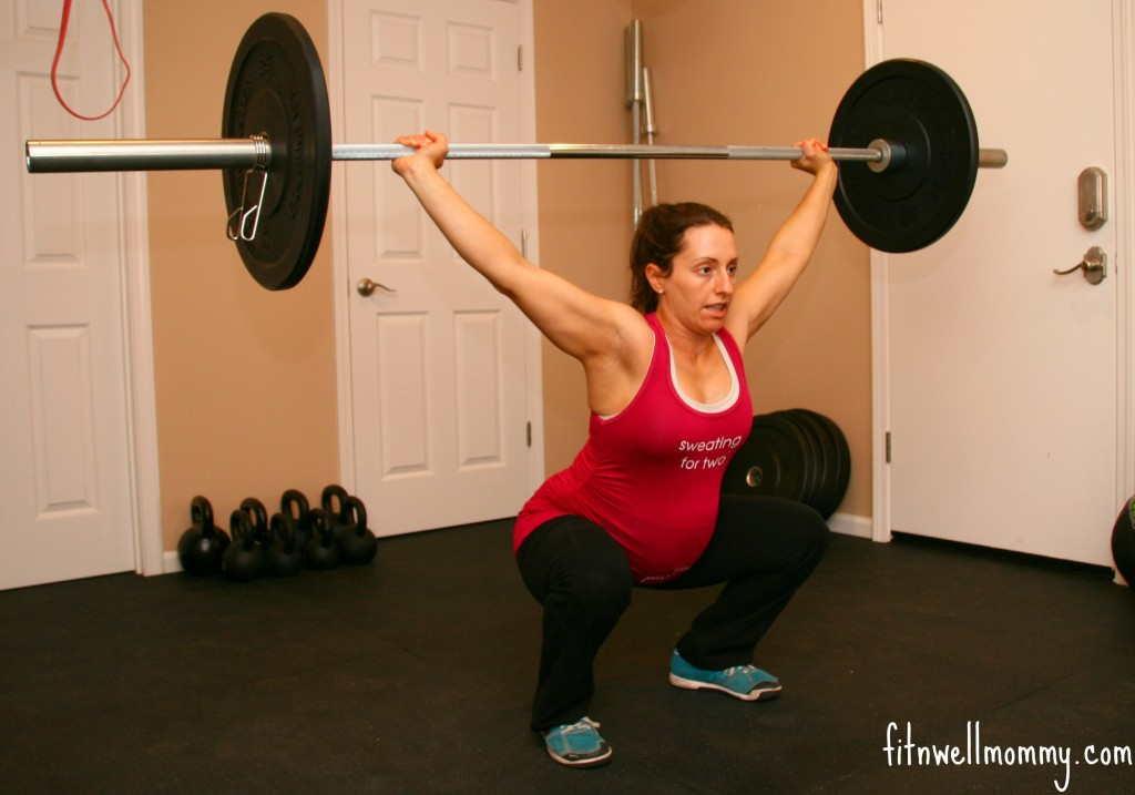 Overhead squat while 27 weeks pregnant