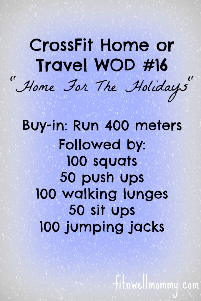 CrossFit Home or Travel WOD #16