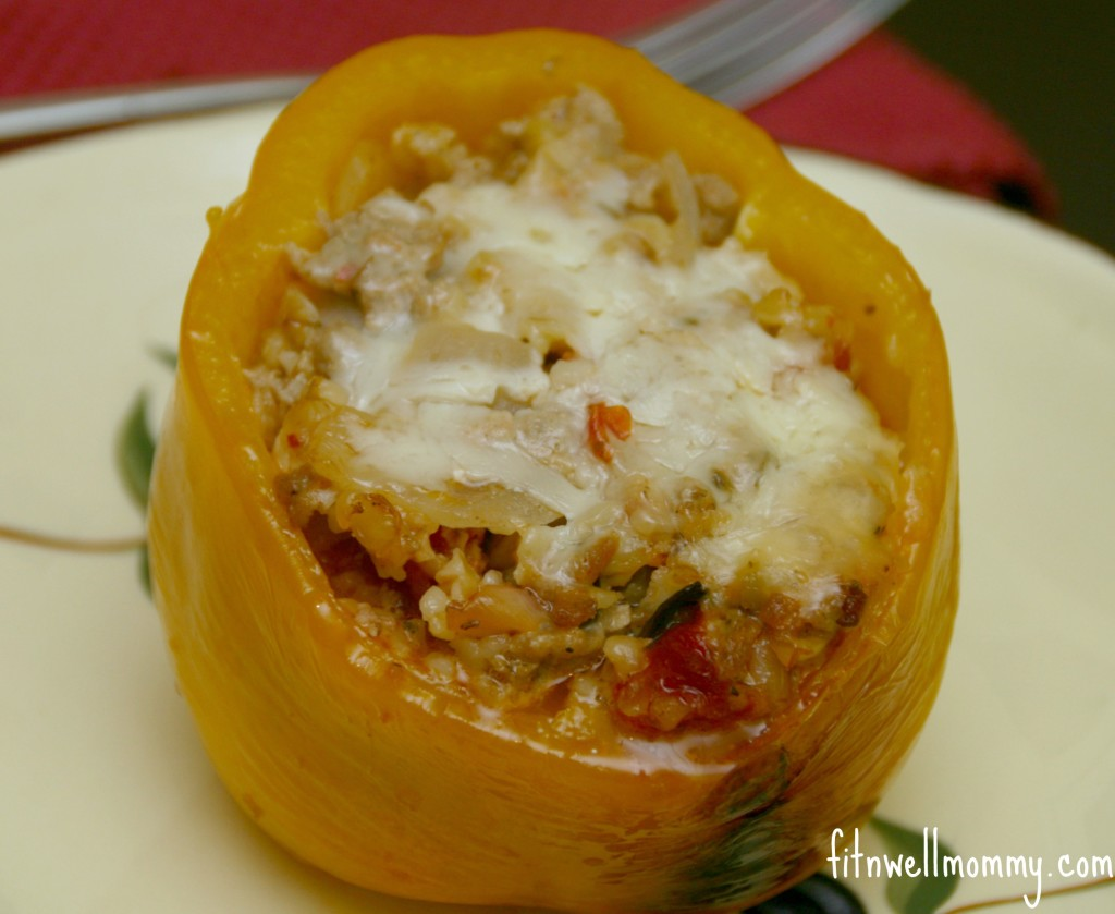 Slow-cooker Stuffed Bell Peppers with Freekeh