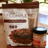 Paleo Sweet Tooth almond butter and Juice Plus Chocolate Complete Shake