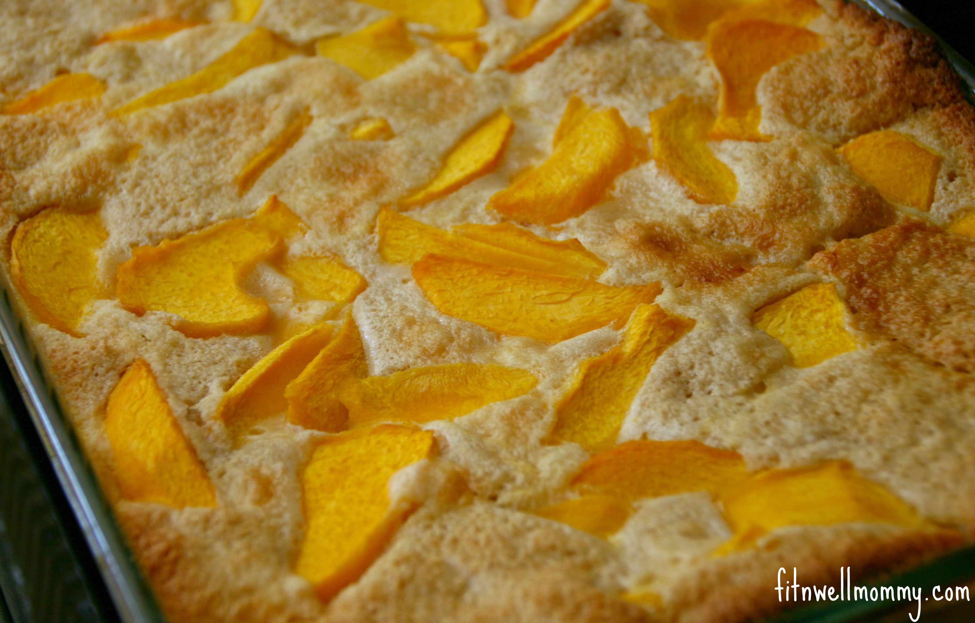 Quick and Easy Peach Cobbler Made With Oat Flour - Deliciously Fit