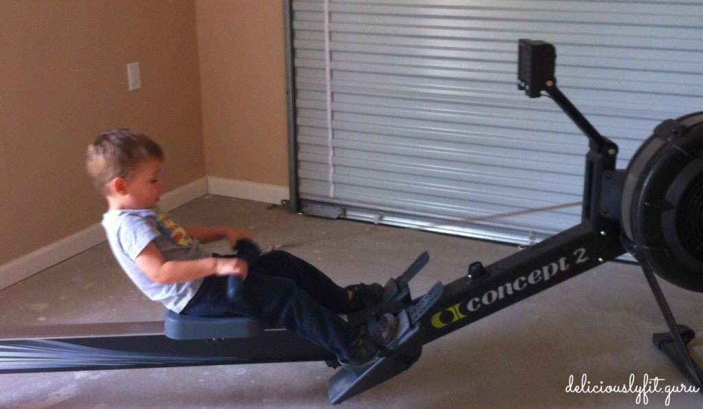 4 year old rowing