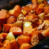 roasted butternut squash with apples and walnuts
