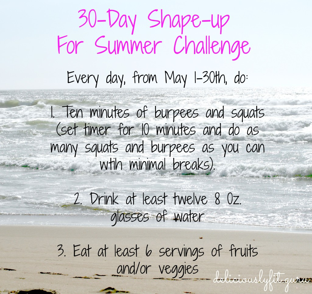 30-Day Shape-Up For Summer Challenge