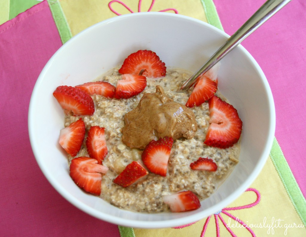 overnight protein oats - deliciously FIT