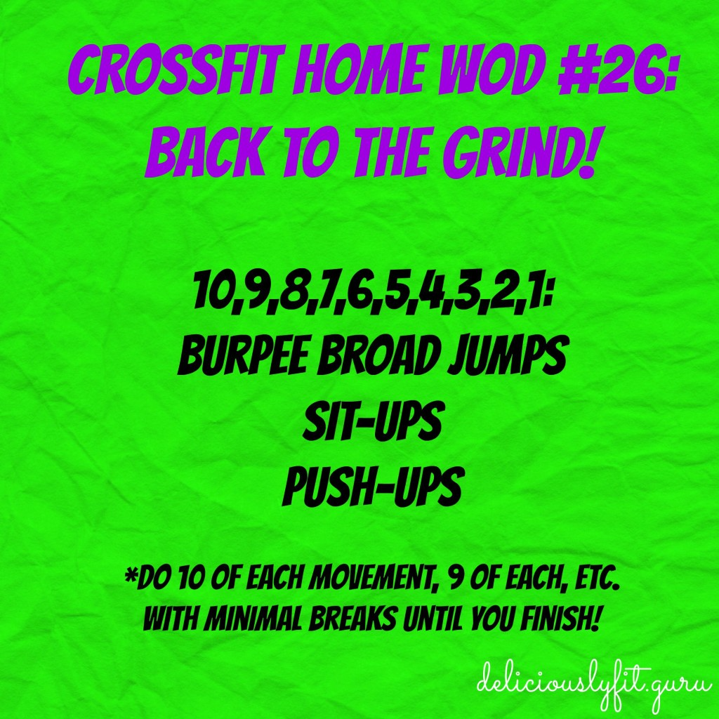 CrossFit Home Wod #26 - Deliciously Fit