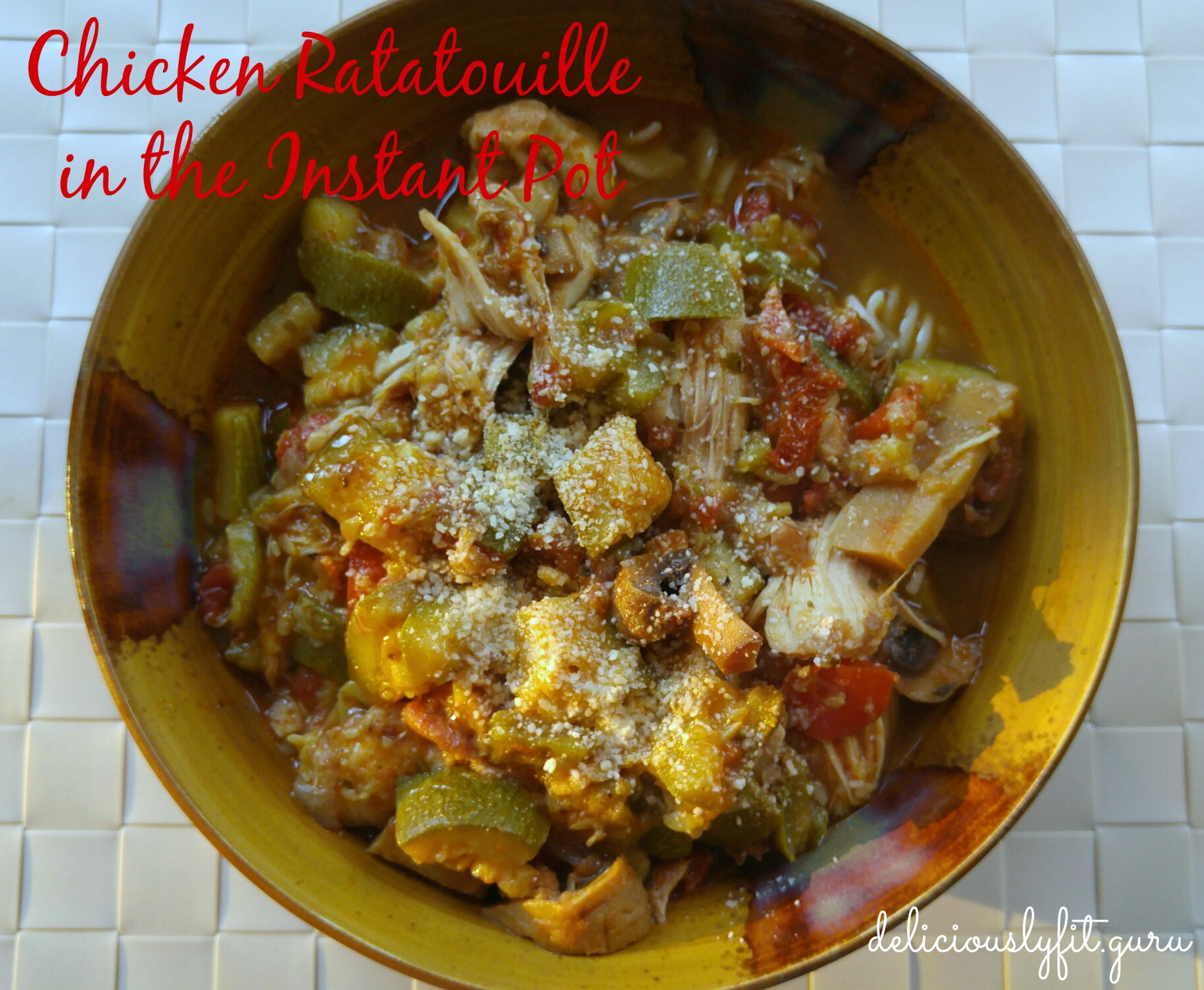 Chicken Ratatouille In The Instant Pot